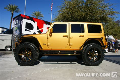 lebron white jeep 2012 sema ultimate auto gold 4 door jeep jk wrangler