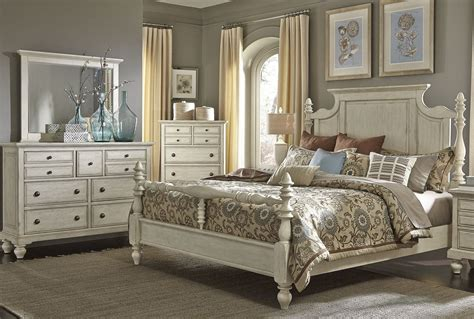 high country white poster bedroom set  liberty  br