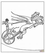 Coloring Chariot Dragon Medea Golden Mythology Greek Template Fleece Drawing Achilles Printable Lived Heroes Before Dot Sketch Supercoloring sketch template