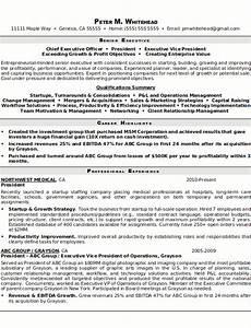 Resume sample 8 senior executive resume career resumes for Examples of senior executive resumes