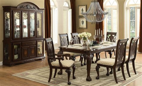 norwich warm cherry leg dining room set  homelegance