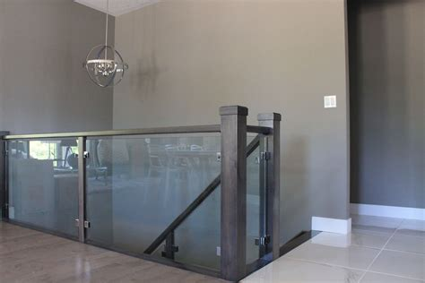 Glass Banisters by 10mm Clear Tempered Glass Stair Railing With Brushed