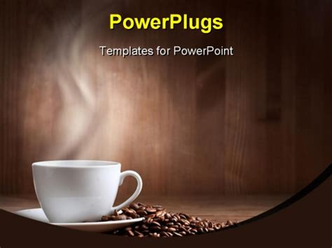 best coffee brown powerpoint template warm cup of coffee