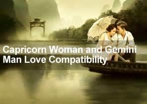 Gemini Man Capricorn Woman Love Compatibility