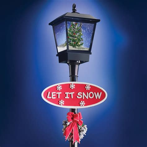 musical snowing christmas lamppost