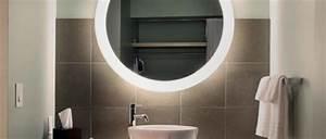 Miroir Rond Salle De Bain : id es d 39 clairage de miroir pour la salle de bain ~ Nature-et-papiers.com Idées de Décoration