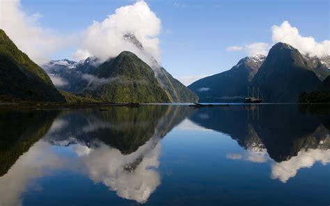 zealand landscape lake mountain reflection hd desktop