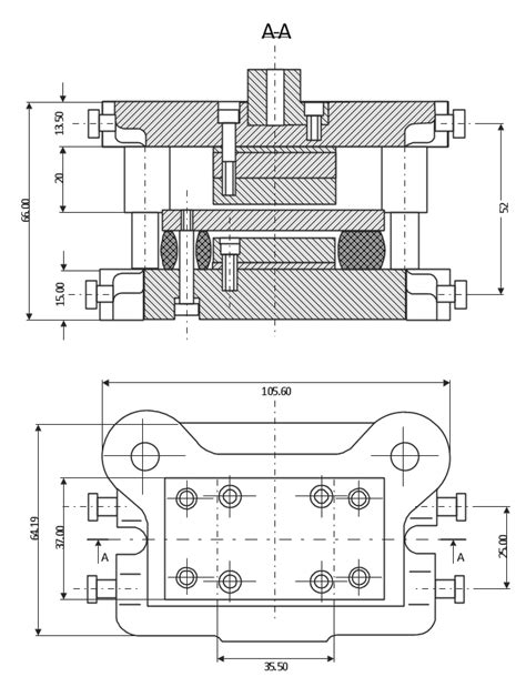 Technical drawing - Machine parts assembling | Elements