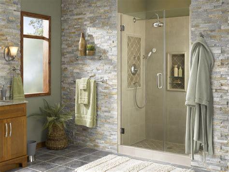 bathroom alcove ideas shower alcove with accents tropical bathroom