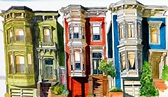 Good old fashioned rainbow San Fran architecture by ...