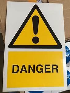 Warning Sign - DANGER - 300x200mm Safety Signs | eBay
