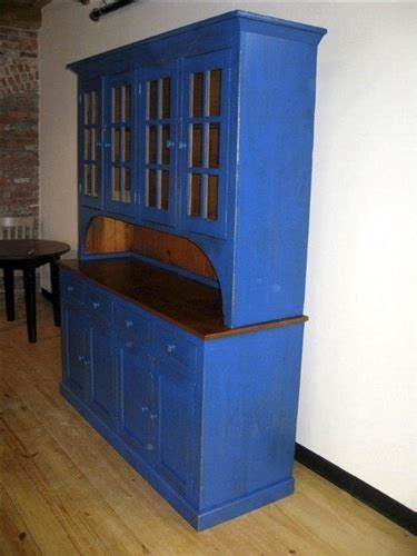 blue rustic hutch  reclaimed wood ecustomfinishes