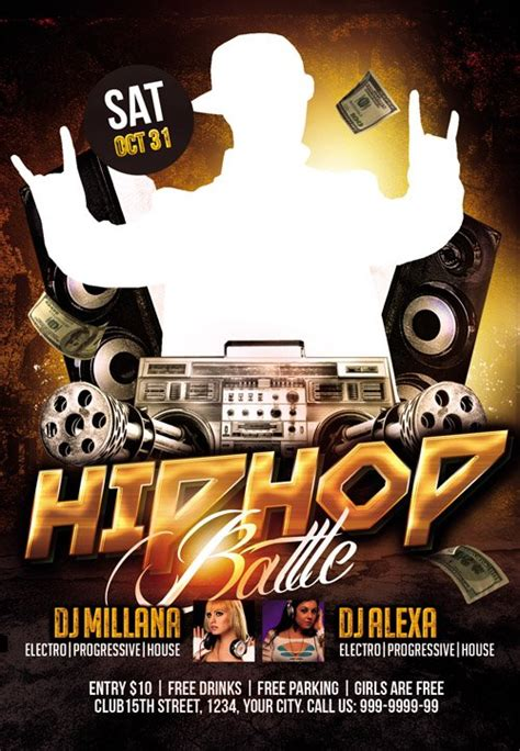 club flyer psd template hip hop battle nitrogfx