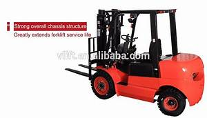 High Quality 2 5 Ton 4m Diesel Manual Forklift Truck For