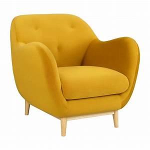 Fauteuil En Velours : melchior fauteuil en velours jaune moutarde habitat habitat ~ Dode.kayakingforconservation.com Idées de Décoration