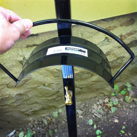 install an outdoor faucet installing an outdoor pole mounted hose hanger with faucet