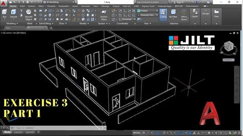 3d Home Design Tutorial Pdf by Create 3d House Using Autocad In Easy Steps Ex 3 Part