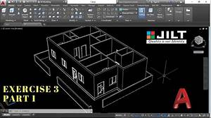 Create 3d House Using Autocad In Easy Steps - Ex 3