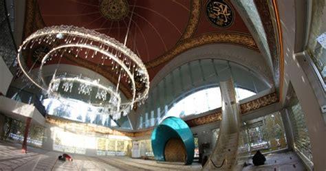 lingkar warna desain interior masjid sakirin turki