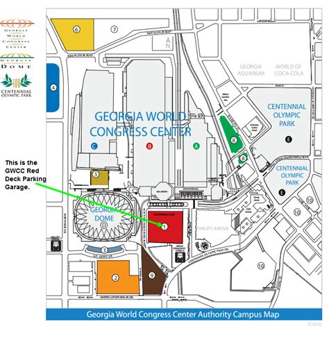 gwcc red deck parking at 310 andrew young intl blvd nw