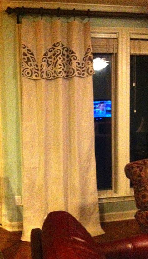 canvas drop cloth curtains images  pinterest
