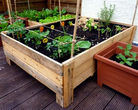 how to build planters for vegetables container gardening diy planter box from pallets