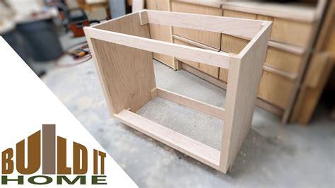 building  bathroom vanity cabinet part  youtube