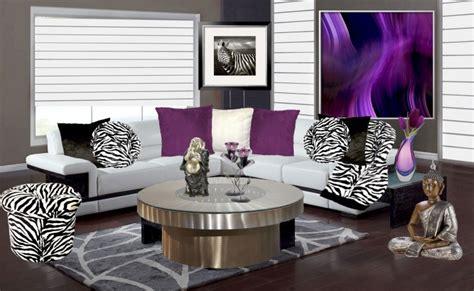 Zebra Living Room Decor by Dramatic Zebra Living Room Decoration Ideas