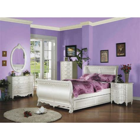 acme furniture  piece bedroom full size sleigh bed set