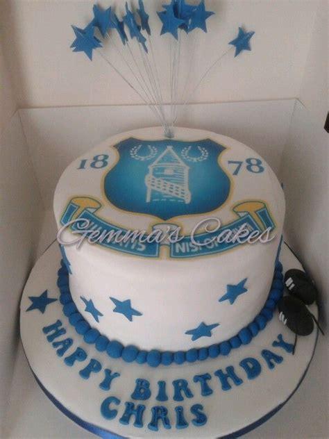everton cake football team cakes pinterest