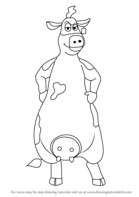 learn   draw bessy     barnyard    barnyard step  step drawing