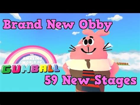 Amazing World Of Gumball Obby Brand New Obby Youtube