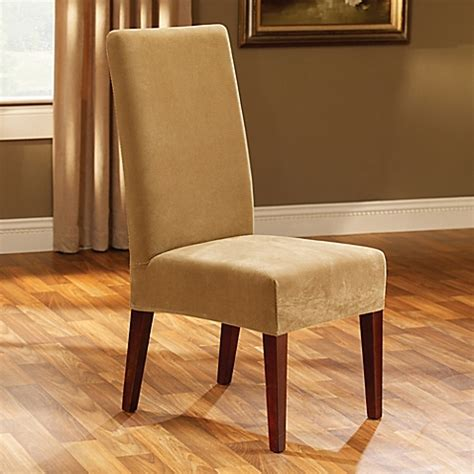 sure fit 174 stretch pique dining room chair slipcover in antique bed bath beyond