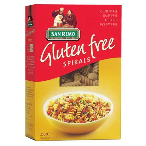 cuisine san remo gluten free spirals san remo