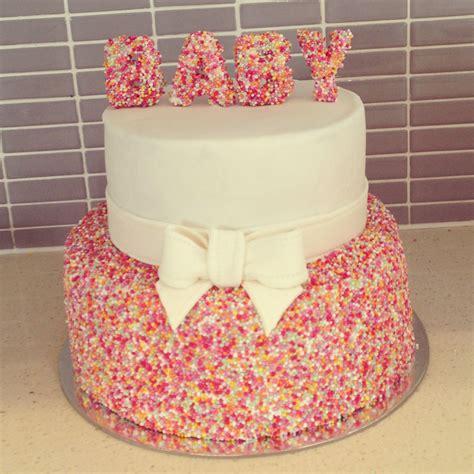 baby sprinkle cake     cute  blue
