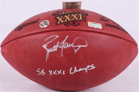 Brett Favre Signed Official Nfl Super Bowl Xxxi Game Ball