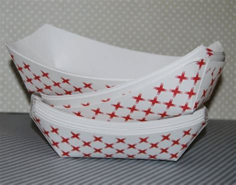 Hot Dog Boats Paper by 25 Medium Food Trays Paper Boats Party Trays Retro Red