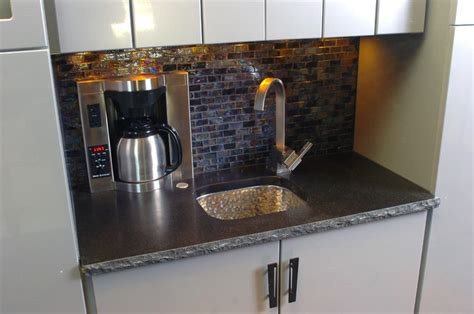 Wet Bar Coffee Maker And Sink