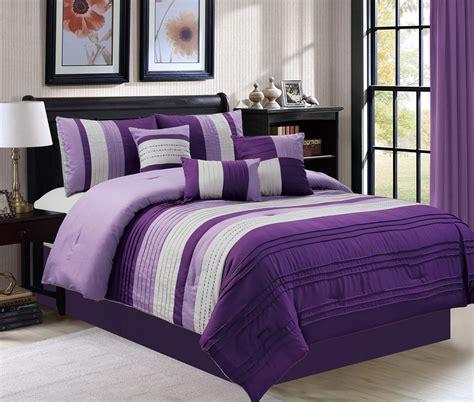 7 piece ghazi purple gray comforter set