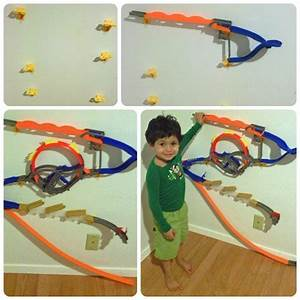 get the toys off the floor With hot wheels wall tracks template