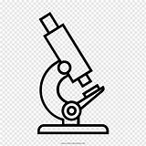 Microscope Outline Drawing Diagram Coloring Toys Clip sketch template