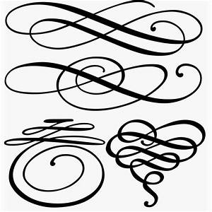 Free download~ Decorative Flourishes--would make pretty ...