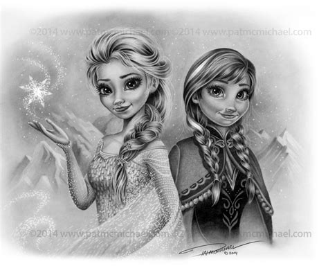 Elsa And Anna Christmas Card By Pat-mcmichael On Deviantart
