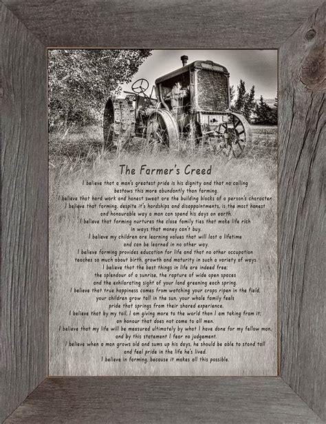 farmers creed steel wheels farmer poem funeral poems