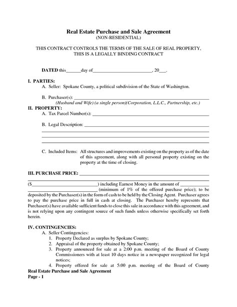 purchase and sale agreement form 9 best images of standard purchase and sales agreement