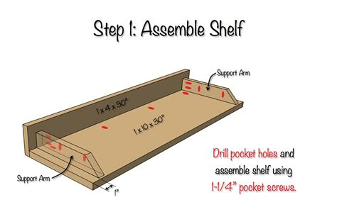 diy secret floating shelf  plans rogue engineer