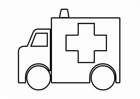 Kleurplaat Ambulance by Ambulance Kleurplaat Dokterskoffer Kleurplaat