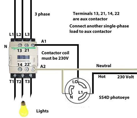 wire schneider lcd contactor