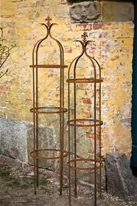 Rankgitter Metall Rost : 2er set rankhilfe tren rost h 160 195cm ~ Watch28wear.com Haus und Dekorationen