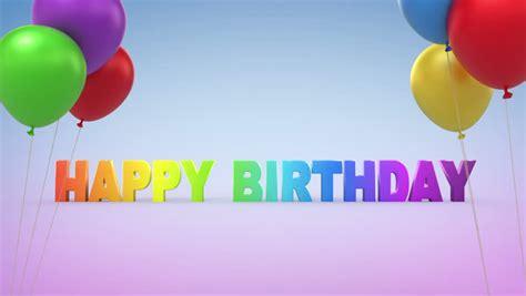 3d Happy Birthday Photo by Happy Birthday 3d Animation Stock Footage 2886508